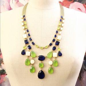 J CREW 🌟 blue & green gemstone Statement necklace